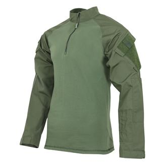 TRU-SPEC Poly / Cotton 1/4 Zip Tactical Response Combat Shirt Ranger Green / Olive Drab