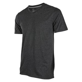 Oakley Solid V-Neck T-Shirt Blackout Light Heather