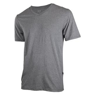 Oakley Solid V-Neck T-Shirt Athletic Heather Gray