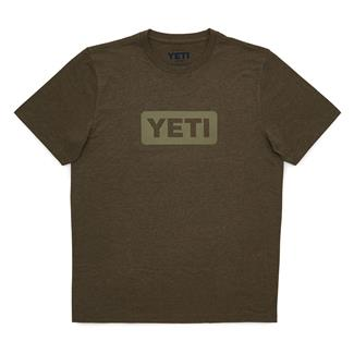 YETI Badge Logo T-Shirt Olive Heather