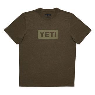 YETI Badge Logo T-Shirt Olive Heather