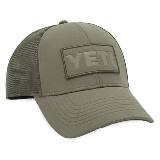 YETI Patch Trucker Hat Olive on Olive