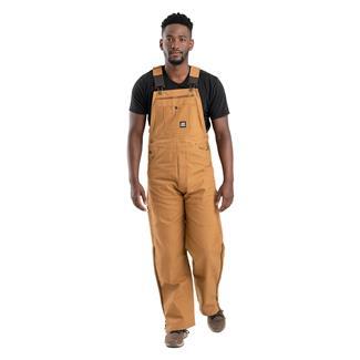 Berne Workwear Original Unlined Duck Bib Overalls Brown Duck