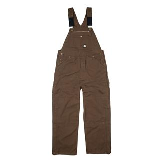 Berne Workwear Unlined Washed Duck Bib Overalls Bark