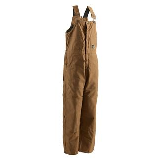 Berne Workwear Deluxe Insulated Bib Overalls Brown Duck