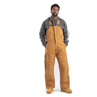 Berne Workwear Deluxe Insulated Bib Overalls Brown Duck