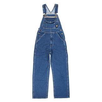 Berne Workwear Original Unlined Washed Denim Bib Overalls Stone Wash Dark