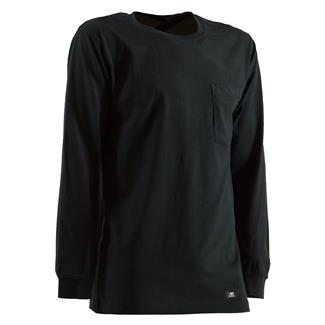 Berne Workwear Heavyweight Long Sleeve Pocket T-Shirt Black