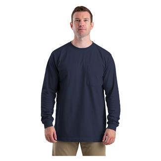 Berne Workwear Heavyweight Long Sleeve Pocket T-Shirt Navy