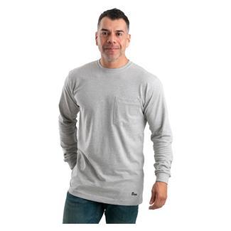 Berne Workwear Heavyweight Long Sleeve Pocket T-Shirt Gray