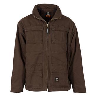 Berne Workwear Flex180 Washed Chore Coat Bark