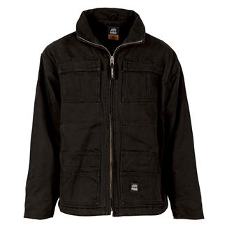 Berne Workwear Flex180 Washed Chore Coat Black