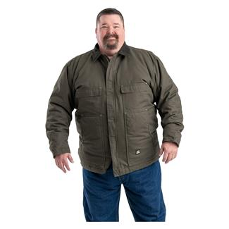 Berne Workwear Original Washed Chore Coat Olive Duck