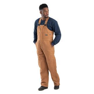 Berne Workwear FR Deluxe Bib Overalls Brown Duck