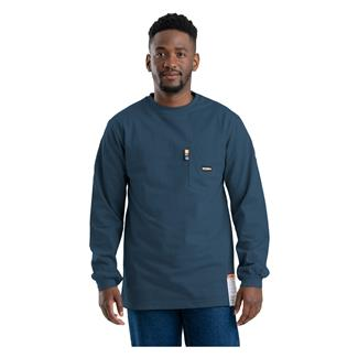 Berne Workwear FR Crew Neck T-Shirt Navy