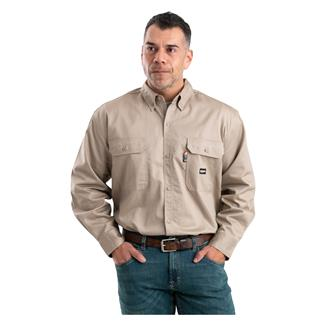 Berne Workwear FR Button Down Workshirt Khaki