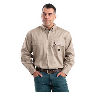 Berne Workwear FR Button Down Workshirt Khaki
