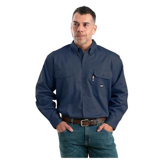 Berne Workwear FR Button Down Workshirt Navy