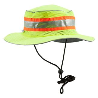Berne Workwear Enhanced Visibility Mesh Bucket Hat Yellow
