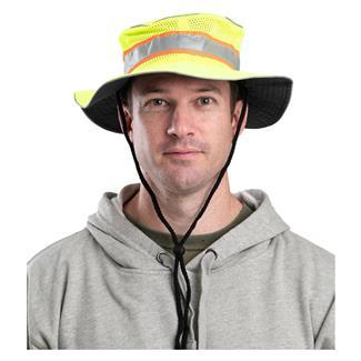 Berne Workwear Enhanced Visibility Mesh Bucket Hat Yellow