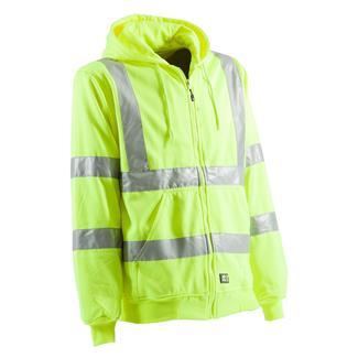 Berne Workwear Hi-Vis Type R Class 3 Lined Hooded Sweatshirt Yellow