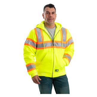 Berne Workwear Hi-Vis Type R Class 3 Hooded Active Jacket Yellow