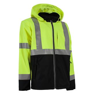 Berne Workwear Hi-Vis Type R Class 3 Softshell Jacket Jacket Yellow
