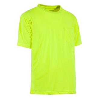 Berne Workwear Enhanced-Visibility Pocket T-Shirt Yellow