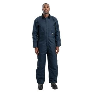 Berne Workwear Deluxe Insulated Coveralls - Twill Navy