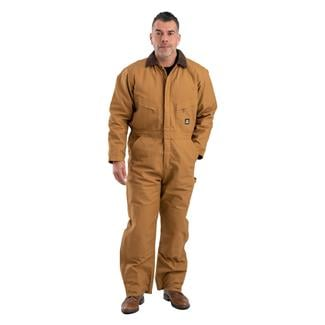 Berne Workwear Deluxe Insulated Coveralls Brown Duck