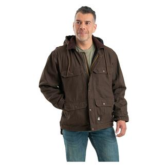 Berne Workwear Washed Contractor Coat Bark