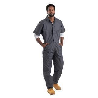 Berne Workwear Poplin Short Sleeve Coveralls Charcoal