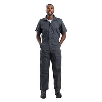 Berne Workwear Poplin Short Sleeve Coveralls Charcoal