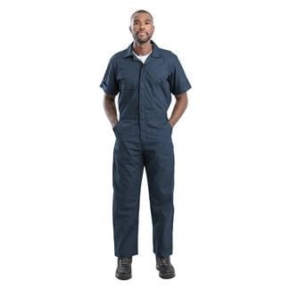 Berne Workwear Poplin Short Sleeve Coveralls Navy