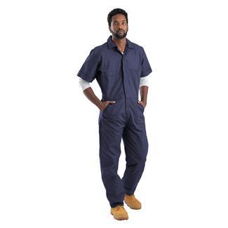 Berne Workwear Poplin Short Sleeve Coveralls Navy
