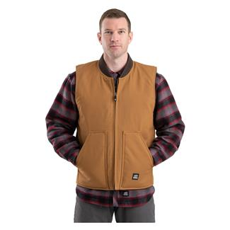 Berne Workwear Duck Workmans Vest - Quilt Lined Brown Duck