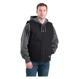 Berne Workwear Duck Workmans Vest - Quilt Lined Black