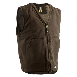 Berne Workwear Washed V-Neck Vest Bark