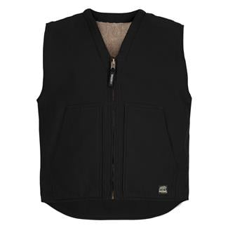 Berne Workwear Washed V-Neck Vest Black