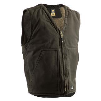 Berne Workwear Washed V-Neck Vest Moss