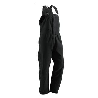Berne Workwear Washed Insulated Bib Overalls Black