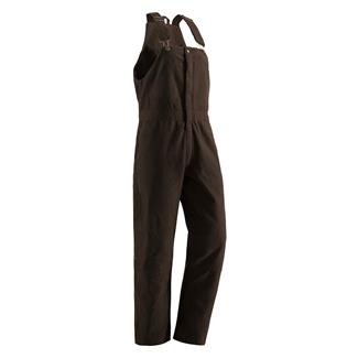 Berne Workwear Washed Insulated Bib Overalls Dark Brown