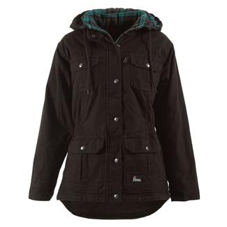 Berne Workwear Washed Barn Coat - Quilted Flannel Lined Dark Brown
