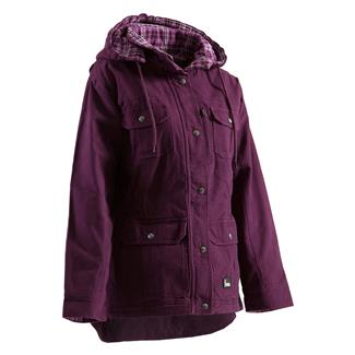 Berne Workwear Washed Barn Coat - Quilted Flannel Lined Plum