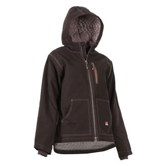 Berne Workwear Modern Hooded Jacket Dark Brown