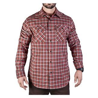 Vertx Long Sleeve Weapon Gaurdian Shirt Brick Plaid