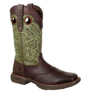 "Durango 12"" Ultra-Lite Saddle Western Dark Brown / Hunter Green"