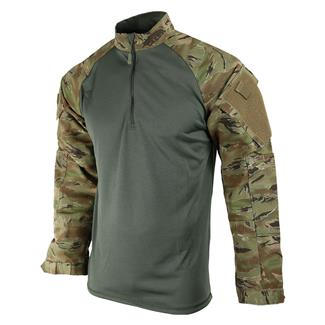 TRU-SPEC Poly / Cotton 1/4 Zip Tactical Response Combat Shirt ATT / Green