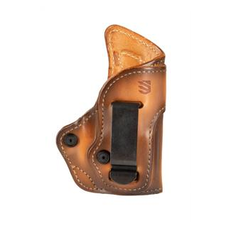 Blackhawk Premium Leather Inside the Pant Holster with Clip Burnished Brown