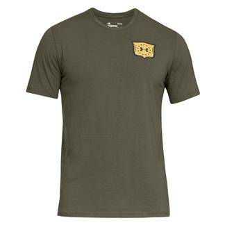Under Armour Freedom Brave and Free Eagle T-Shirt Marine OD Green / Black